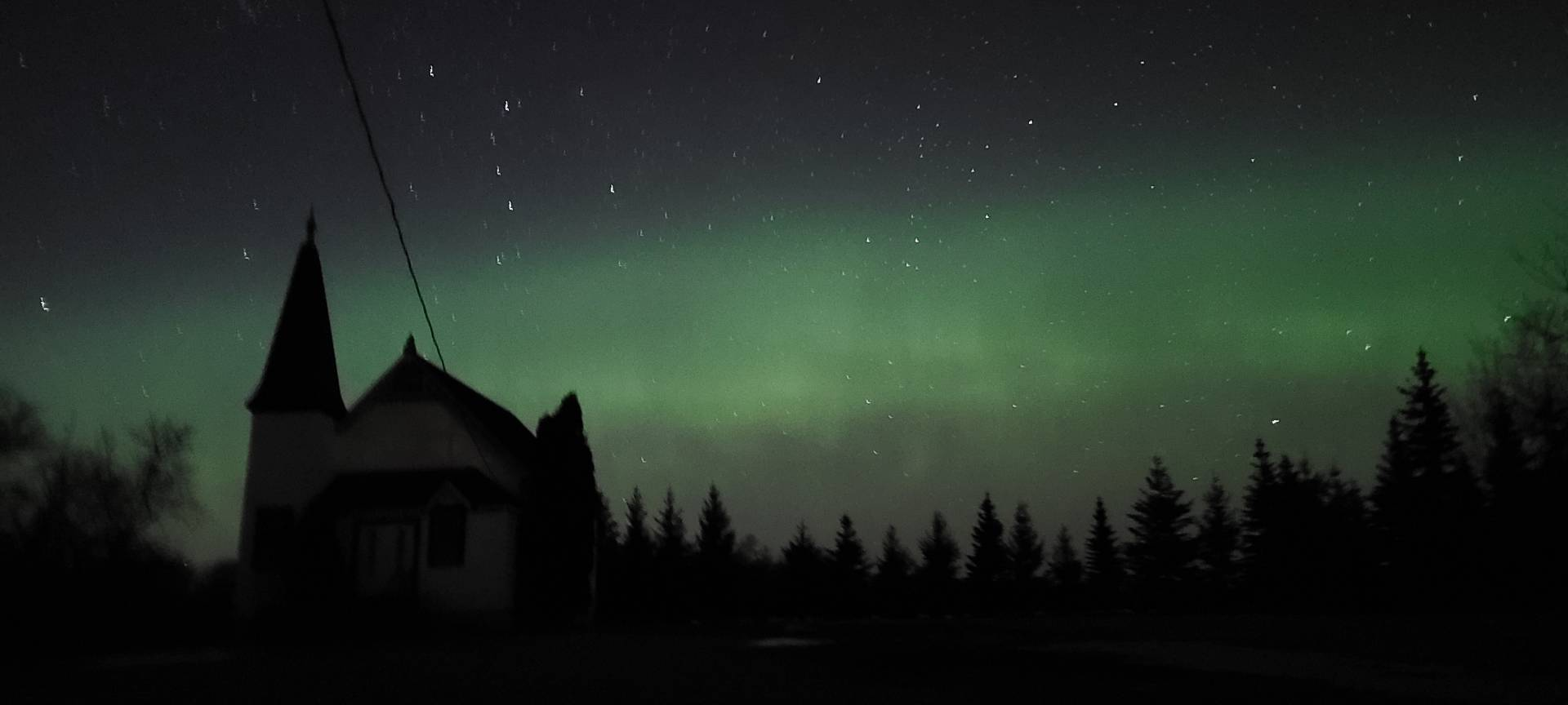 Aurora is shining brighter! 10:19pm