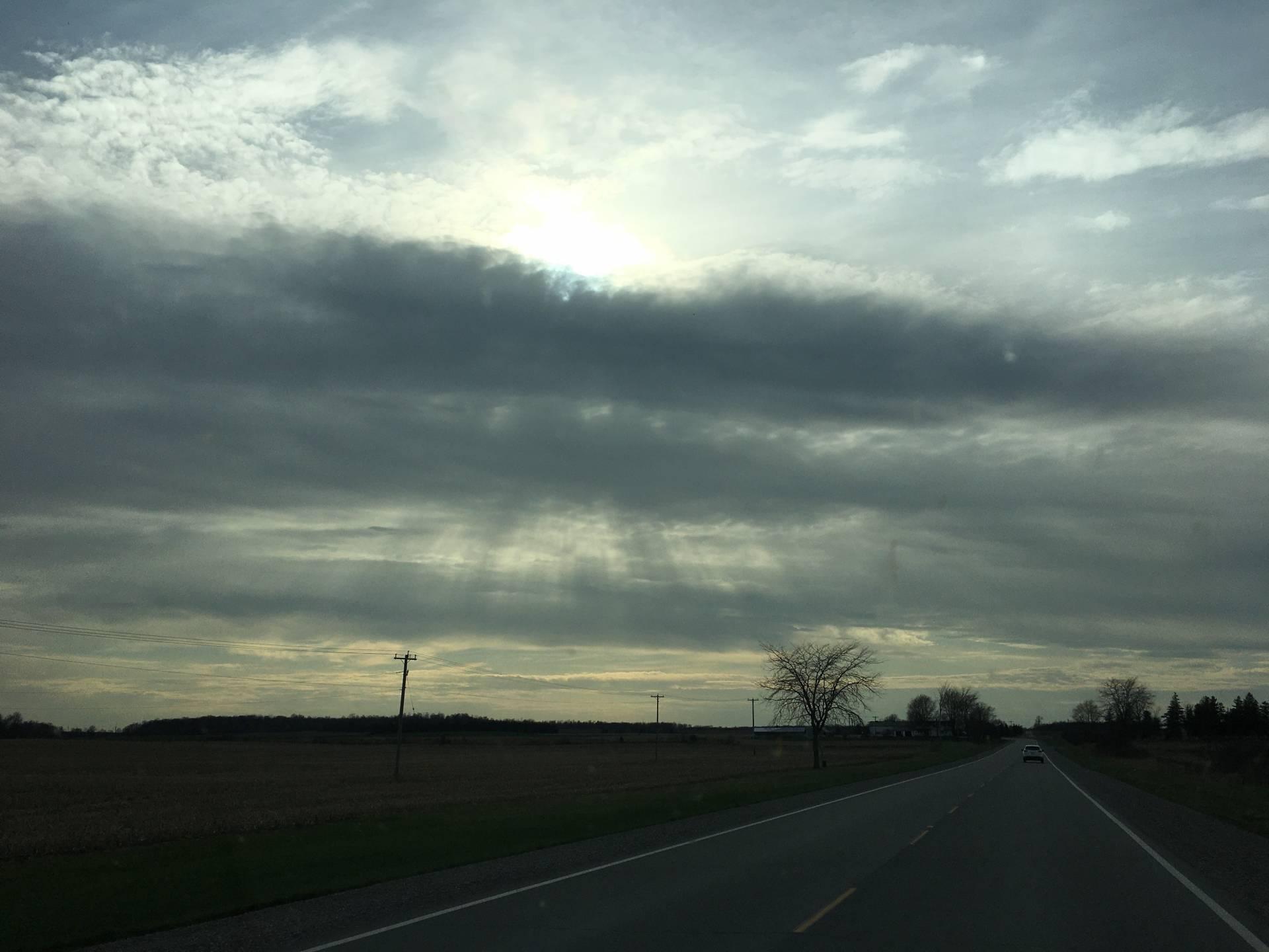Sun rays intercept