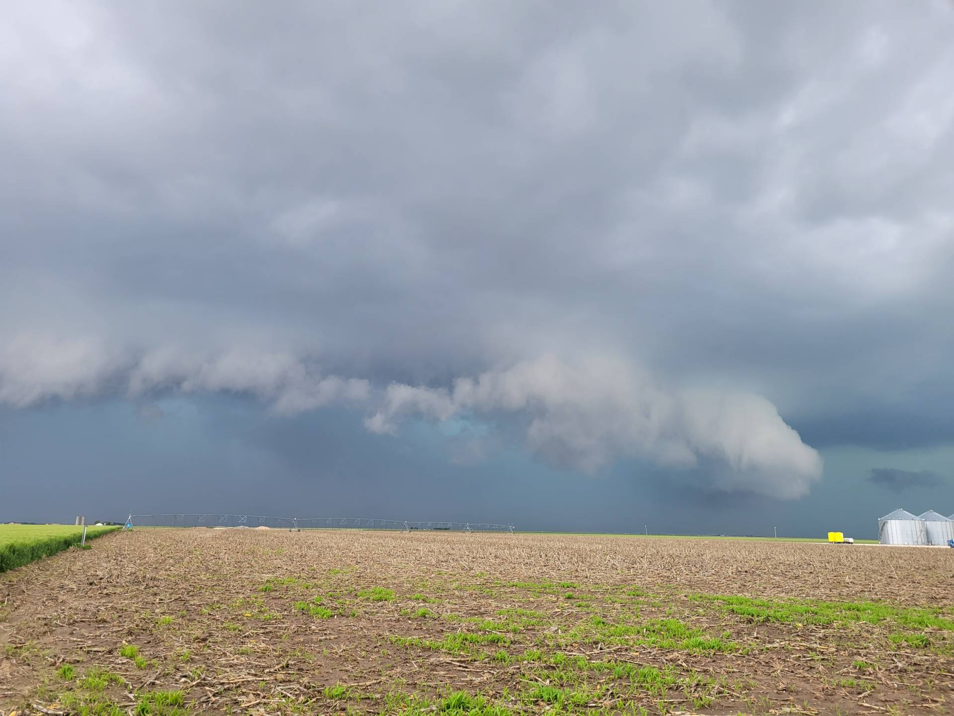 Gusty storm near Pence, Kansas. #kswx