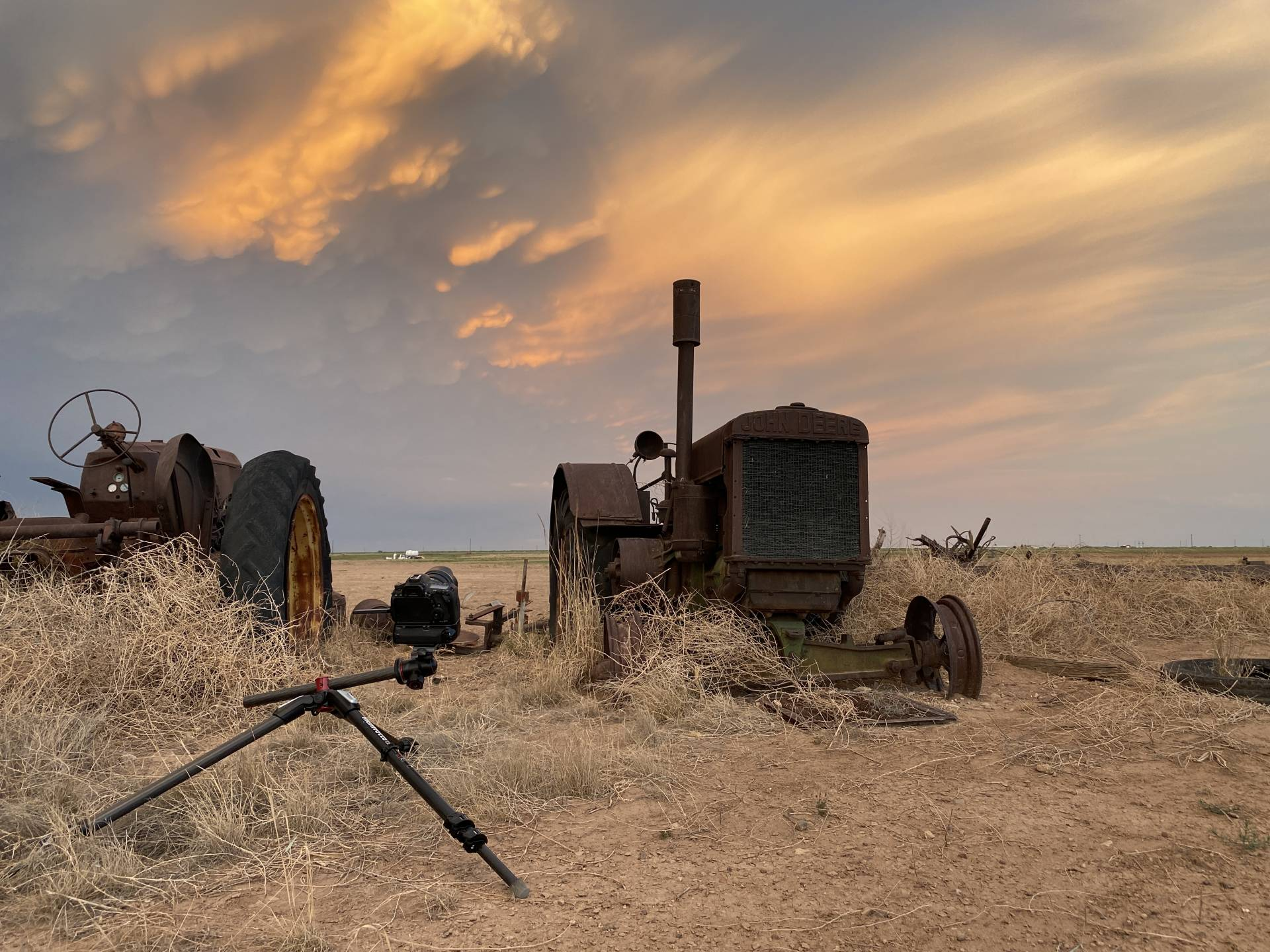 Wrapping up for the day with some sunset anvil tractors.