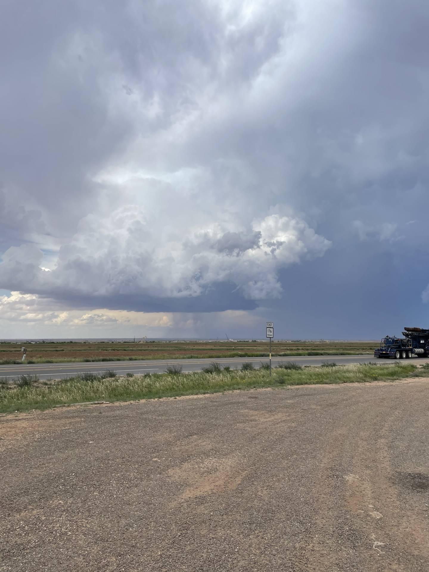 Persistent shear funnel near Lenorah, TX