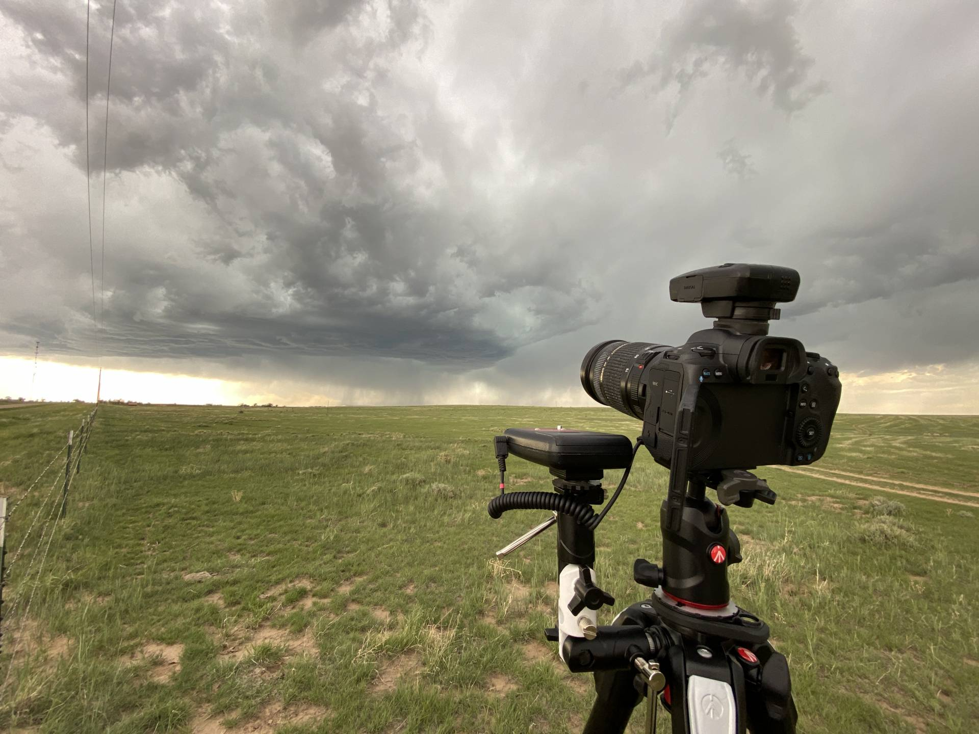 Attempting some lightning shots on this beautiful base near Kim, CO. #cowx
