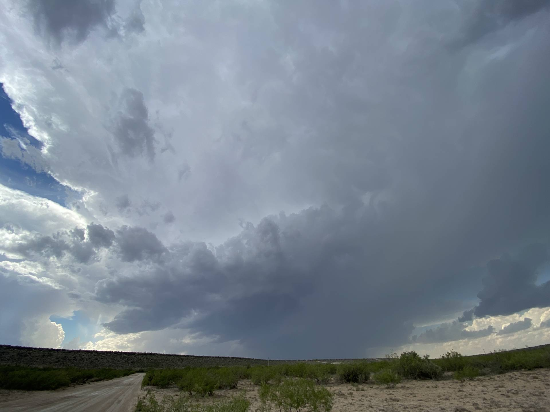 Severe warned storm north of Fort Stockton. Will update the live chase at H&H with pics as much as I can.