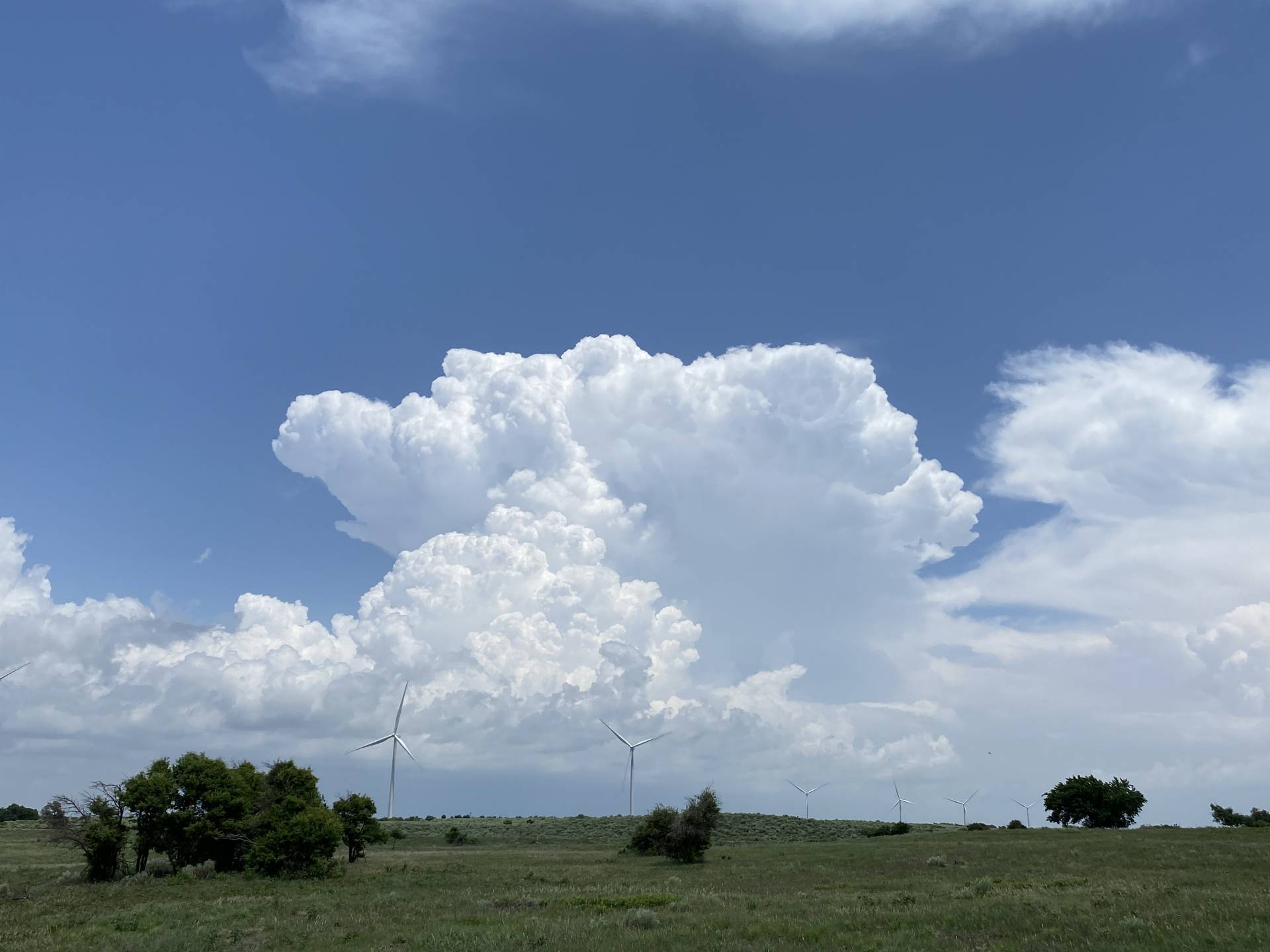 Boundary and parameter chasing in western Oklahoma today.