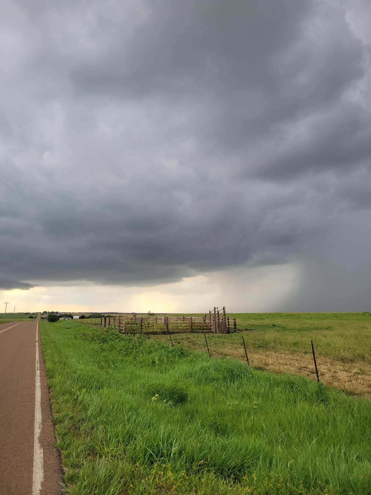 Storm storm near Florence, Kansas. #kswx