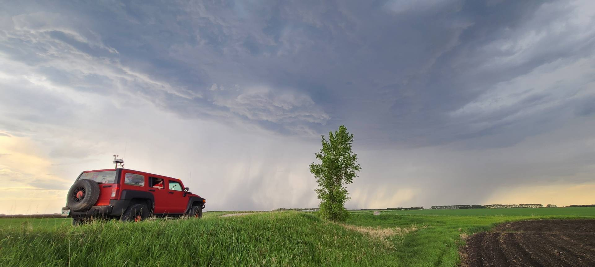 Elevated several thunderstorm over high Bluff #mbstorm