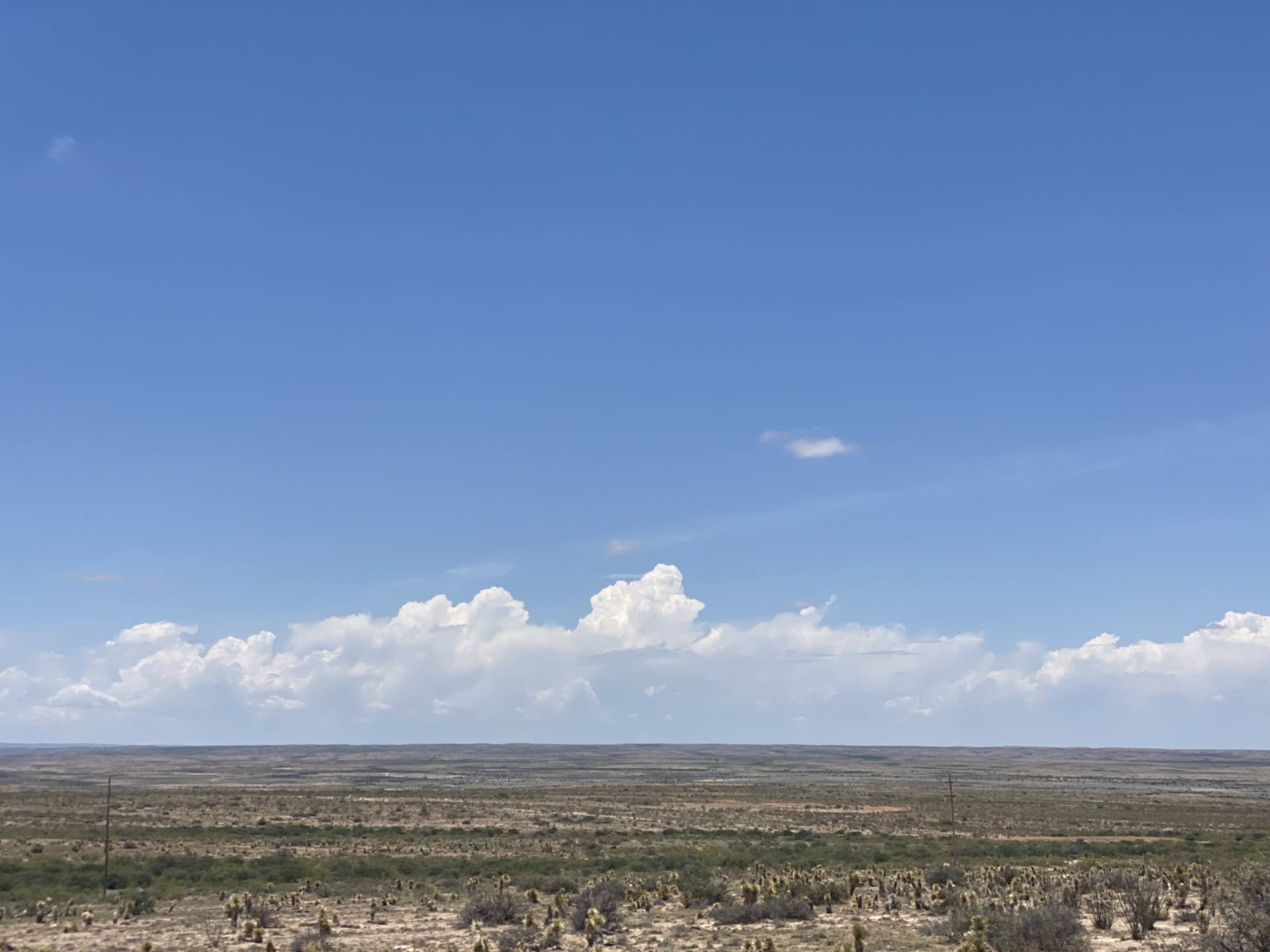 Watching storms fire off the mountains northeast of Carlsbad, NM.