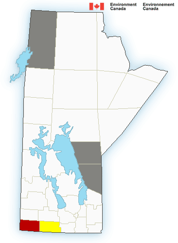 3:40 PM CDT Monday 09 August 2021 Severe thunderstorm warning in effect for:  Mun. of Brenda-Waskada incl. Medora and Goodlands Mun. of Grassland incl. Hartney and Minto Mun. of Two Borders incl. Melita Coulter and Tilston Environment Canada meteorologists are tracking a severe thunderstorm capable of producing quarter-sized hail and wind gusts in excess of 90 km/h.  At 2:39 PM CDT Doppler RADAR indicated that this severe thunderstorm was located near Coulter and was moving toward the northeast at 60 km/h.  Large hail can damage property and cause injury. Strong wind gusts can toss loose objects, damage weak buildings, break branches off trees and overturn large vehicles. Lightning kills and injures Canadians every year. Remember, when thunder roars, go indoors!  Please continue to monitor alerts and forecasts issued by Environment Canada. To report severe weather, send an email to MBstorm@canada.ca or tweet reports using #MBStorm.     3:42 PM CDT Monday 09 August 2021 Severe thunderstorm watch in effect for:  Mun. of Boissevain-Morton incl. Turtle Mtn Prov. Park Mun. of Brenda-Waskada incl. Medora and Goodlands Mun. of Deloraine-Winchester Mun. of Grassland incl. Hartney and Minto Mun. of Two Borders incl. Melita Coulter and Tilston Cartwright-Roblin Mun. incl. Mather Mun. of Killarney-Turtle Mountain Mun. of Lorne incl. Notre Dame and Swan Lake Mun. of Louise incl. Pilot Mound and Crystal City Mun. of Pembina incl. Manitou La Rivière and Snowflake R.M. of Argyle incl. Baldur Glenora and Greenway R.M. of Prairie Lakes incl. Margaret Ninette and Belmont Persons in or near this area should be on the lookout for adverse weather conditions and take necessary safety precautions. Watch for updated statements.  Please refer to the latest public forecasts for further details and continue to monitor the situation through your local radio and television stations or Weatheradio