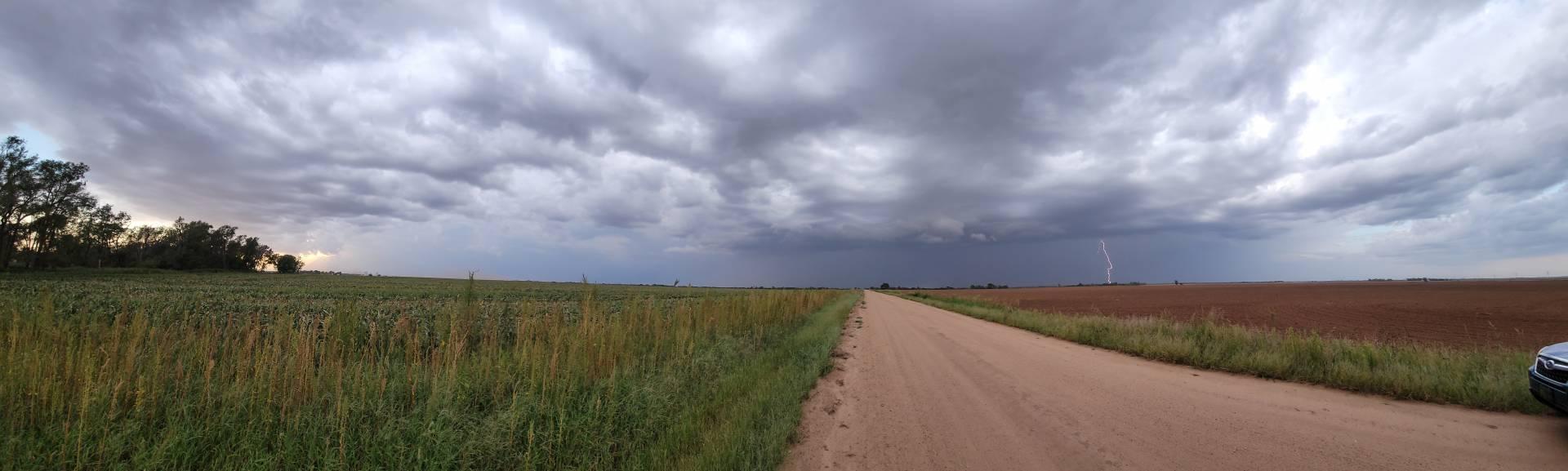 Pano near Danville, Kansas. #kswx