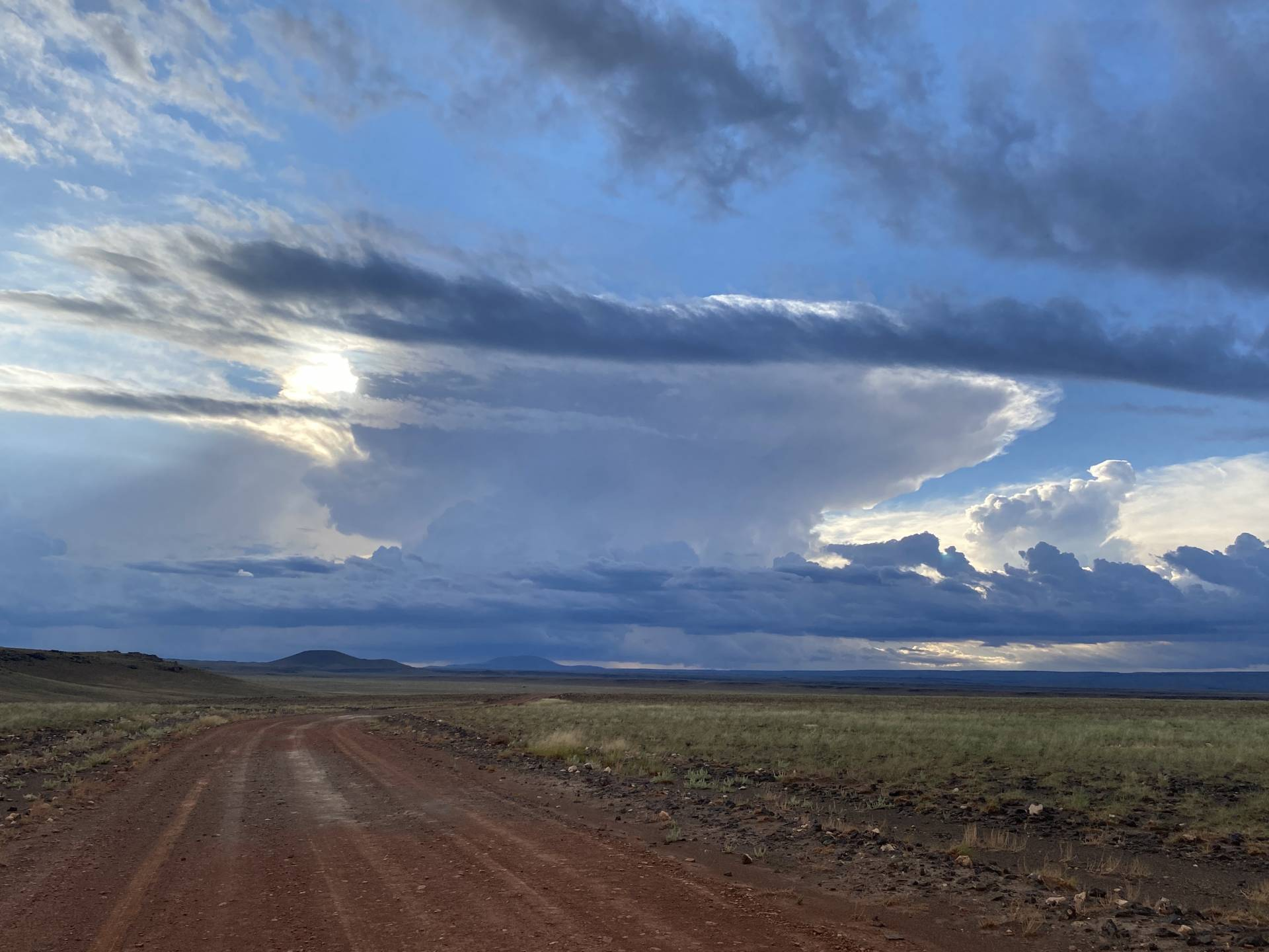 Watching to see what happens in the volcanic field north of Flagstaff this evening. #azwx
