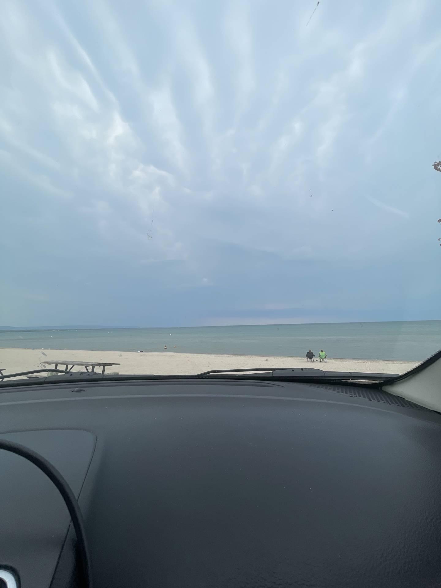 The waiting game begins, at Wasaga Beach currently #ONstorm   Wasaga Beach, ON