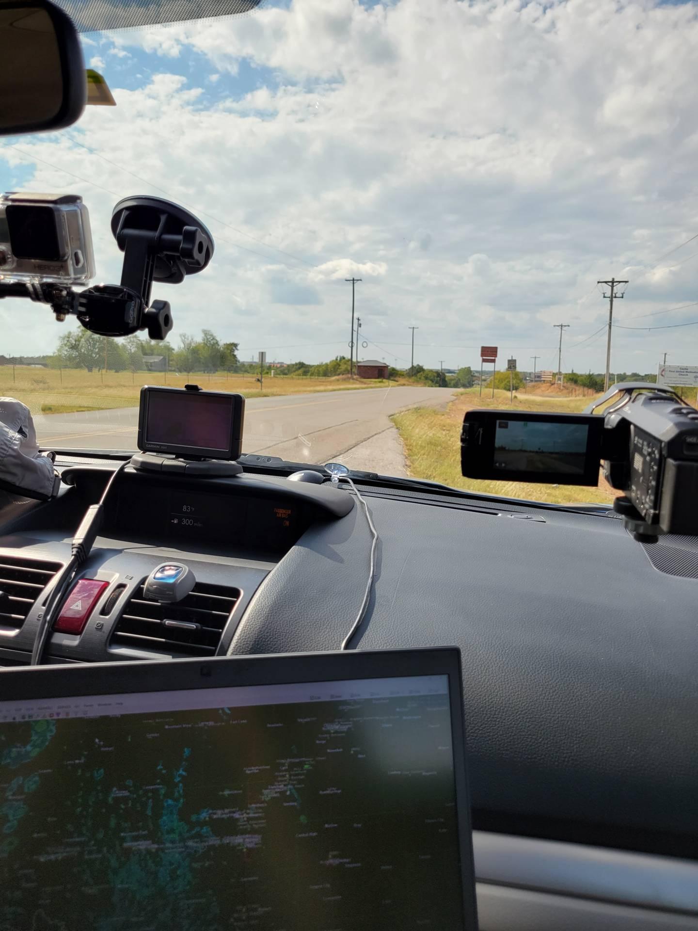 Monitoring for storm development near Cache, Oklahoma #okwx